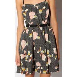 Kimchi Blue Nora Dress linen blend floral pockets